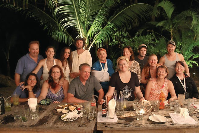 Roger Leary and friends from his MeetUp.com travel group.