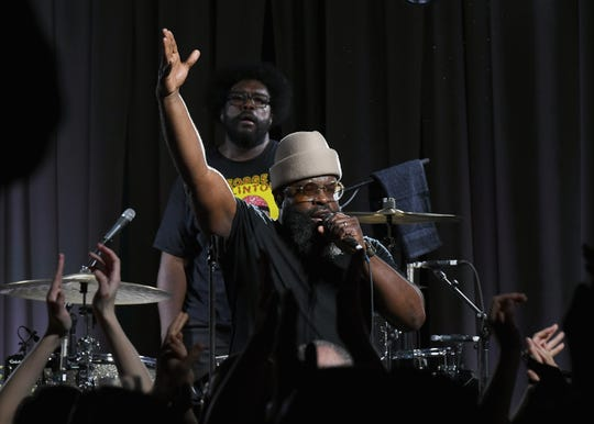 "Questlove and Black Thought of The Roots perform at the opening reception for ""Play It Loud: Instruments Of Rock & Roll"" exhibition at The Metropolitan Museum of Art on April 1, 2019 in New York City."