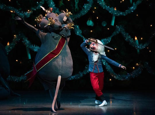 The Nutcracker takes on the Rat King in the New York City Ballet's lavish production.