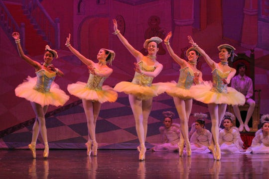 "The Marzipan dance in ""The Nutcracker,"" by the Atlantic City Ballet."