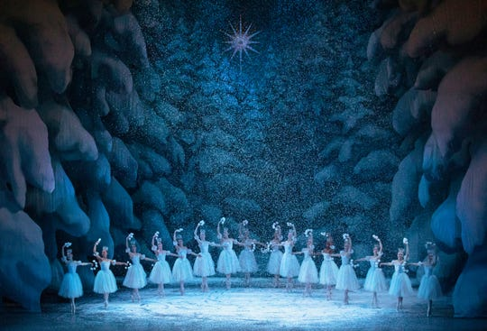 "Snow falls during the New York City Ballet's classic production of ""George Balanchine's The Nutcracker"" in 2018."