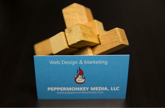 Peppermonkey Media is a Spring Lake Heights-based provider of digital marketing solutions, including web design, social media and search engine optimization. Owner Vincent Iachetta Jr. in his workspace.  Spring Lake, NJ Tuesday, November 12, 2019