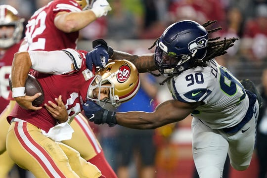 Seattle Seahawks defensive end Jadeveon Clowney hasn't played since dominating in the Nov. 18 win at San Francisco, and the Seahawks are waiting on whether he'll be ready for Monday's game against Minnesota.