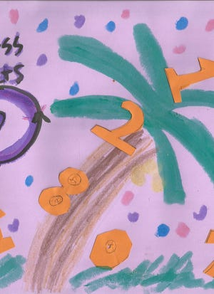 """""""Kindness Counts"""" is the message on a sign made by a student at Tropical Elementary before World Kindness Day on Nov. 13."""