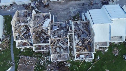 Condo damage in the Bahamas. Treasure Cay Marina.  October 23, 2019.