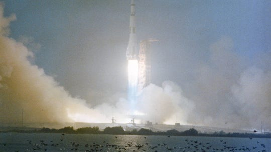 Lightning nearly doomed Apollo 12, and other facts on its 50th anniversary