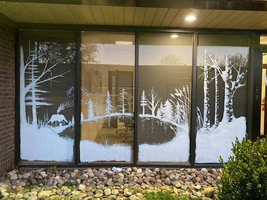 Medford artist Heather Henry did this window art at Kotlar, Hernandez & Cohen law office in Mount Laurel. Henry began painting murals, window art and teaching art classes after the art gift came upon her suddenly.