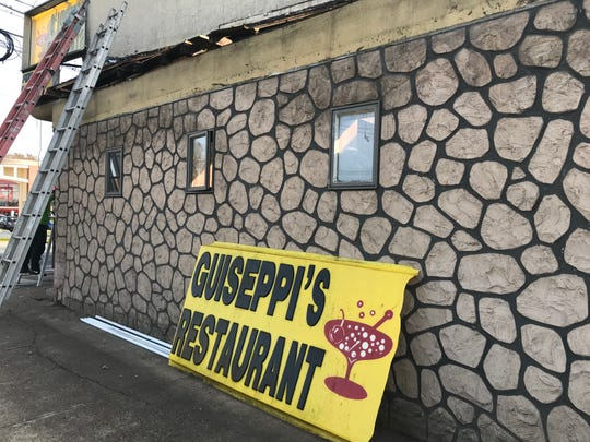 The former Guiseppi's Restaurant is undergoing sweeping renovations to become a neighborhood pub.
