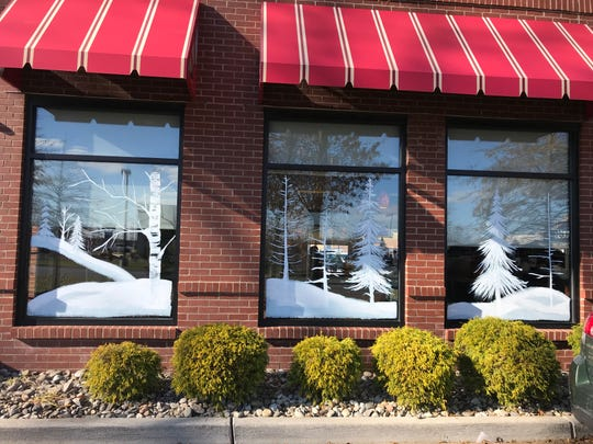 This window art at a Chick-Fil-A restaurant in Egg Harbor Township. The work was done by Medford artist Heather Henry, who began drawing and painting about three years ago.