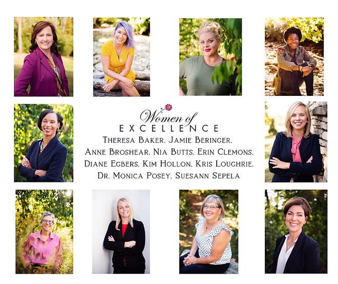 These women will be honored during the West Chester/Liberty Chamber Alliance Women of Excellence  gala Nov. 15 and dinner.