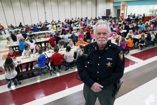 Dep. Mark Sharrock of the Coshocton County Sheriff's Office is the school resource officer for Coshocton City Schools.