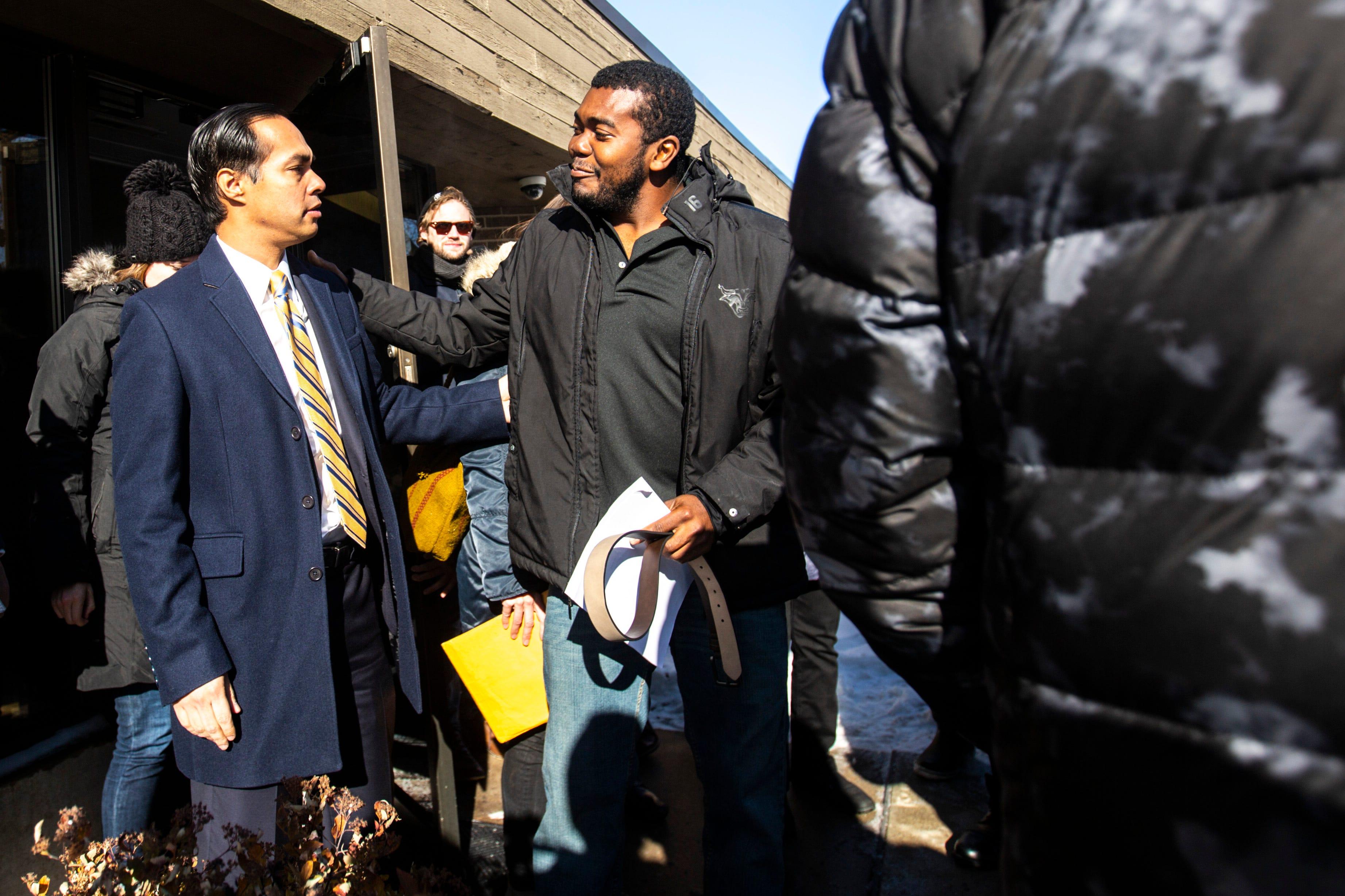 Photos: Julián Castro attends ICE visit with refugee in Iowa
