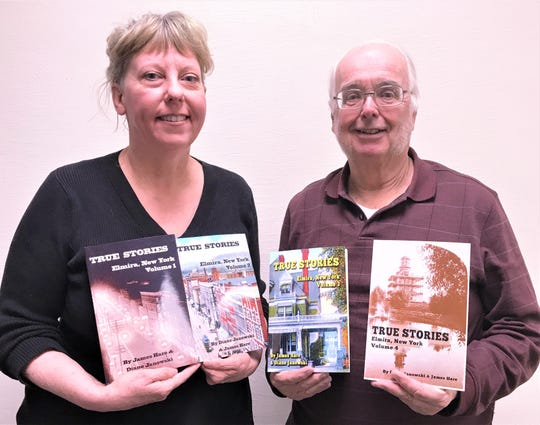 Local historians Diane Janowski and James Hare have published their fourth volume of stories about Elmira history.