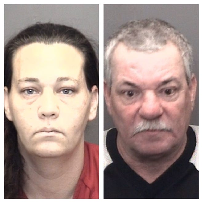 Angela Paul and Gary Anderson; Joan Paul was also arrested but her mugshot isn't yet available.