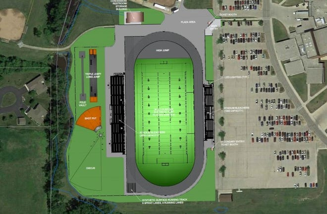 The proposes athletic stadium plan at Fond du Lac High School could cost up to $4.5 million and would be funded through community donations, and possibly up to $1.5 million in taxpayer money, the school district is expected to decide at its Nov. 25 meeting.