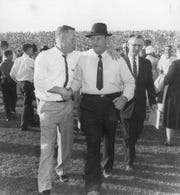 Frank Howard, right, had 106 of his 165 wins as Clemson's football coach by the time he turned 50.
