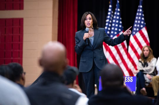 Democratic presidential candidate and senator from California Kamala Harris held a town hall event at the Phillis Wheatley Community Center in Greenville Monday, November 11, 2019.