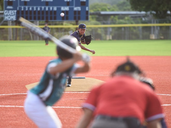 The Southern High Dolphins beat the Guam High Panthers 9-2 in IIAAG Baseball  at the Guam High School Field in this Nov. 12 file photo. Four games are on tap Nov. 16.