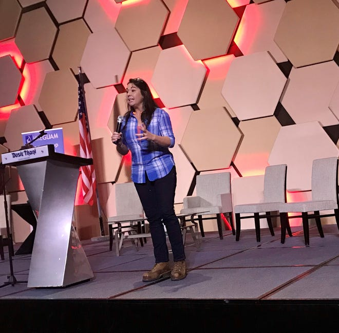 """Kayleen McCabe, host of DIY Network's """"Rescue Renovation"""", spoke at the Registered Apprenticeship Industry Forum on Tuesday, Nov. 12 at the Dusit Thani Guam Resort."""