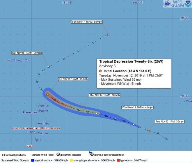 Tropical Depression 26W Advisory 3
