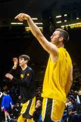 Patrick (left) and Connor McCaffery to date have only been able to play two college games together. They figure to both be instrumental to the 2020-21 Hawkeyes' plans.