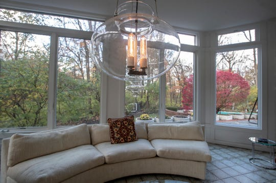 An added-on sun room in this ship-inspired Art Deco home called Windsweep is listed for $575,000 and is located in the gated Brendonwood neighborhood of Indianapolis, near I-465 and East 56th Street, Friday, Nov. 8, 2019.