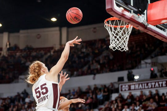 Mississippi State junior forward Chloe Bibby had 12 points in the Bulldogs' second win of the season.