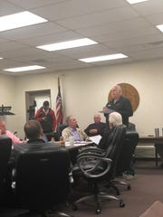 Johnny Bates, physician and chief executive officer with Quality Correctional Healthcare, presented staffing options to provide better care at the Madison County Jail.