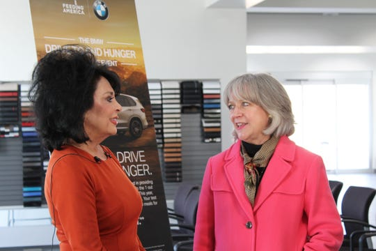 Moss Motors President and CEO Sharon Moss and Second Harvest Food Bank Director of Development Connie Anderson speak about the Moss Motors BMW food drive running Nov. 12-16.