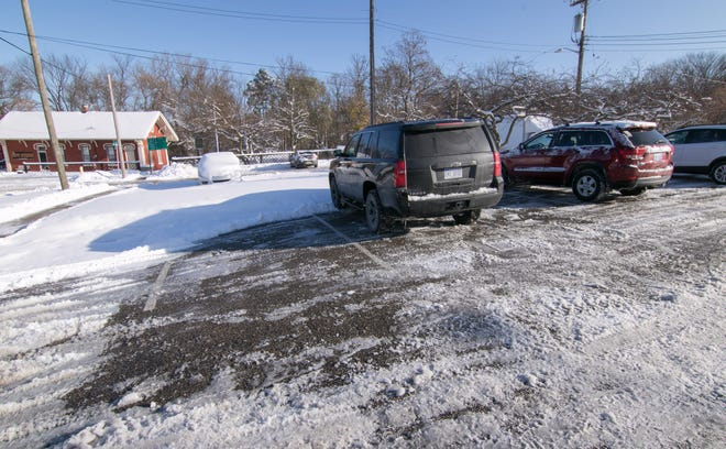 Howell officials are considering an unsolicited offer from a developer to purchase the parking lot north of Howell's DDA office, shown Tuesday, Nov. 12, 2019.