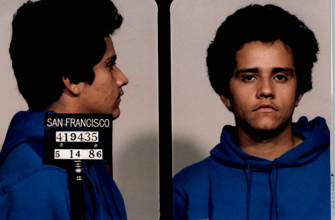 Billionaire cartel boss El Mencho began his career as a drug dealing failure. This 1986 booking photo from a San Francisco jail shows one of his arrests.