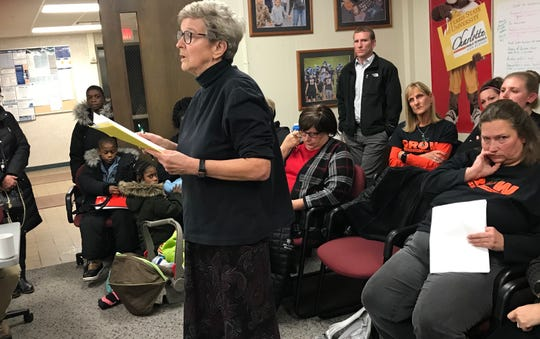 Dr. Jane Turner speaks to the Charlotte Board of Education Monday,  Nov. 11, 2019. Turner said she's concerned about two black patients who reported being bullied and called racist names.