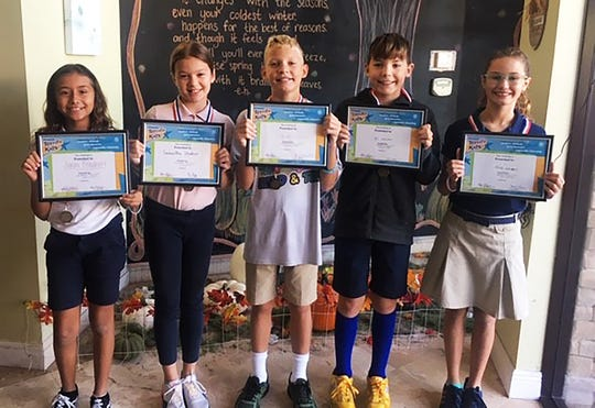 "Kiwanis Club of Marco Island met on Nov. 7. They welcomed ""Terrific Kids"" Sarah Friedhoff, Samantha Shadrick, Asher Graham, Eli Graham and Kate Kerens."