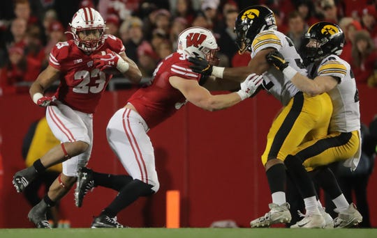 Fullback Mason Stokke helped open holes for Jonathan Taylor against Iowa and could play a critical role again Saturday when Wisconsin faces Nebraska.