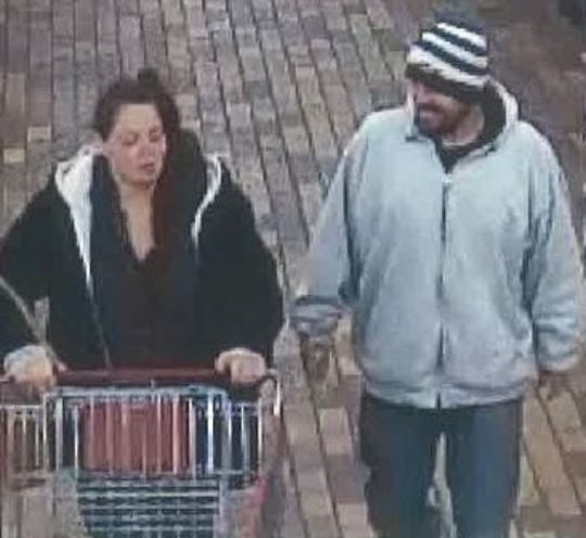Menomonee Falls police is requesting help finding a white male and female suspect involved in a strong armed robbery/retail theft at Menomonee Falls Woodman's, W124 N8145 Hwy 145.