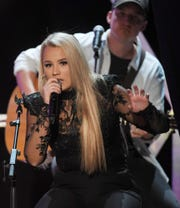 Gabby Barrett performs at the 7th annual Next Women of Country celebration at the CMA Theater at the Country Music Hall of Fame in Nashville on Tuesday, Nov. 12, 2019.