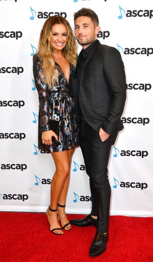 Michael Ray and Carly Pearce on the red carpet at the 57th annual ASCAP Country Music Awards Monday, Nov. 11, 2019, in Nashville, Tenn.
