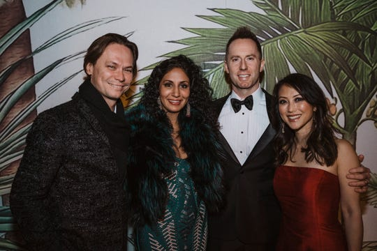 Guido Campello and Sapna Paplep, Bill Stebbins and Jenn Lee attend the Conservancy Gala.