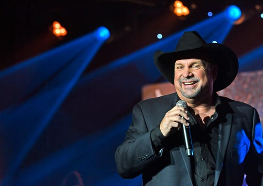 "Garth Brooks performed ""Forever and Ever, Amen"" in tribute to country icon and ASCAP Founders Award recipient Randy Travis at the 57th annual ASCAP Country Music Awards Monday, Nov. 11, 2019, in Nashville, Tenn."