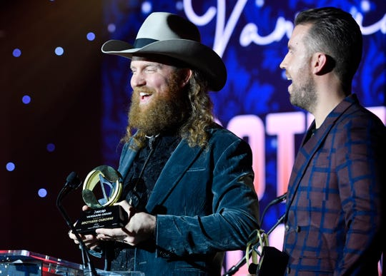 Brothers Osborne took home the ASCAP Vanguard Award at the 57th annual ASCAP Country Music Awards Monday, Nov. 11, 2019, in Nashville, Tenn.