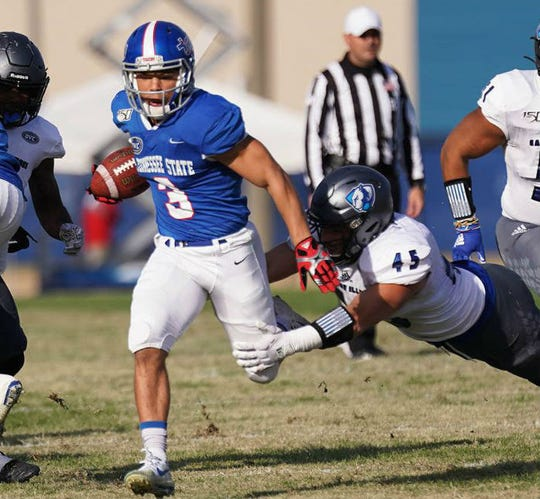Tennessee State receiver Chris Rowland missed the second half of last week's game with a hamstring injury.