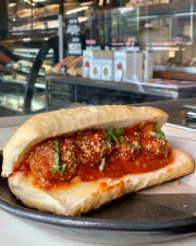 The meatball sub from Nicoletto's Italian Kitchen
