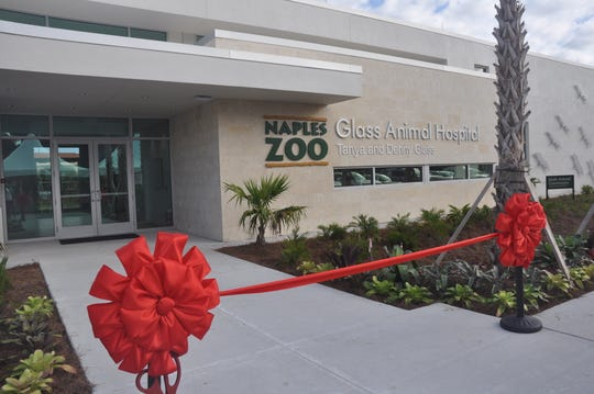 The $4.4 million Glass Animal Hospital at the Naples Zoo officially opened on Tuesday. Animals will now be treated in a 10,000-square-foot facility instead of a 200-square-foot shed.