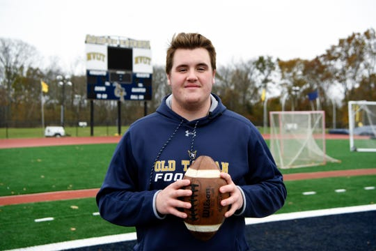 Northern Valley Old Tappan senior lineman Pat Passalacqua is featured on this week's '100 yards' on Tuesday, Nov. 12, 2019, in Old Tappan.