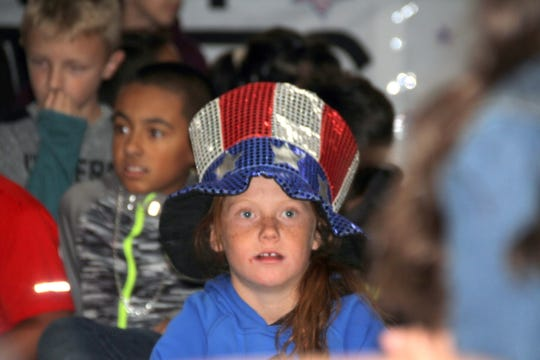 Students at Ruben S. Torres Elementary School were decked out in their patriotic best.