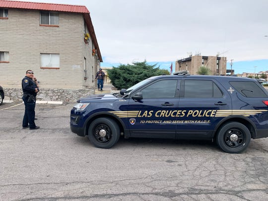 Las Cruces police were at the Telshor Manor Apartments in the 1400 block of South Telshor Boulevard in Las Cruces, the afternoon of Tuesday, Nov. 12, 2019. On Monday, Las Cruces man Isaiah Lara was killed in the apartment's parking lot.