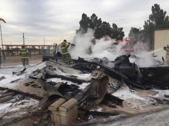 A fire consumed a structure near Grandi and Derrick Roads on Nov. 13.