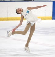 Hetty Shi spins on the ice during a Nov. 12 skate in Farmington Hills.