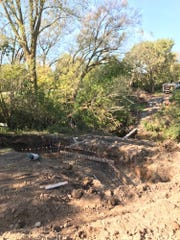 Northwestern Trail's new bridge was finished Tuesday.