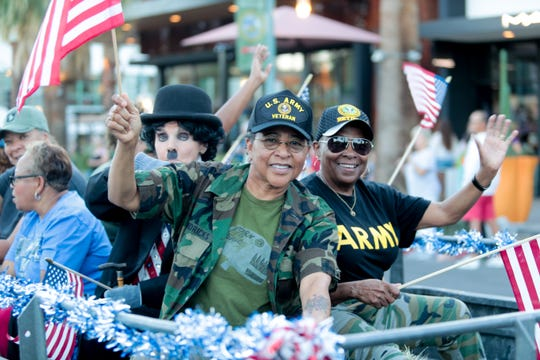 Scenes from the 2019 Veterans Day parade in downtown Palm Springs, Calif. on Monday, November 11, 2019